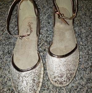 Seychelles Rose Gold 🌸 Sandals Ankle Strap sz 7